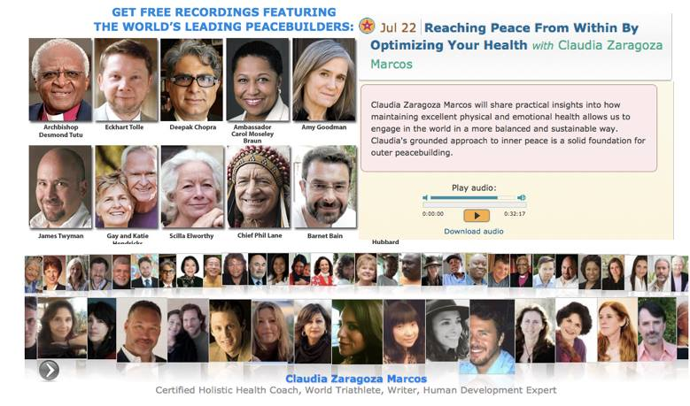 Entrevistada e invitada por Bárbara Arredondo, Fundadora de i AM HERE al tele summit Summer of Peace junto con otros líderes internacionales. 2014