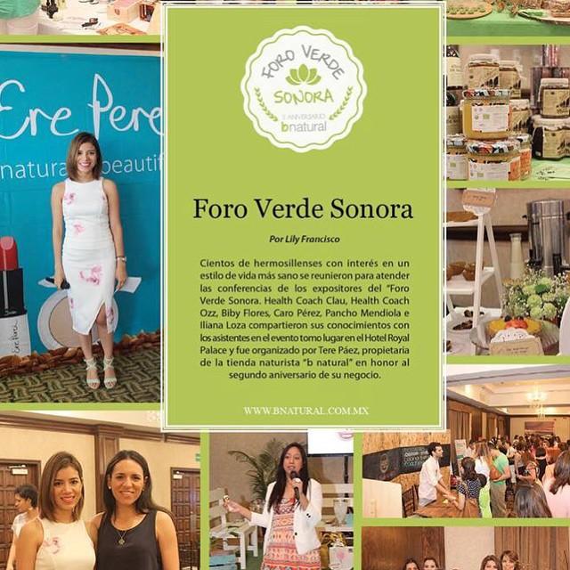 Artículo acerca del evento Foro Verde donde tuve el gusto de participar en Hermosillo, Sonora.
