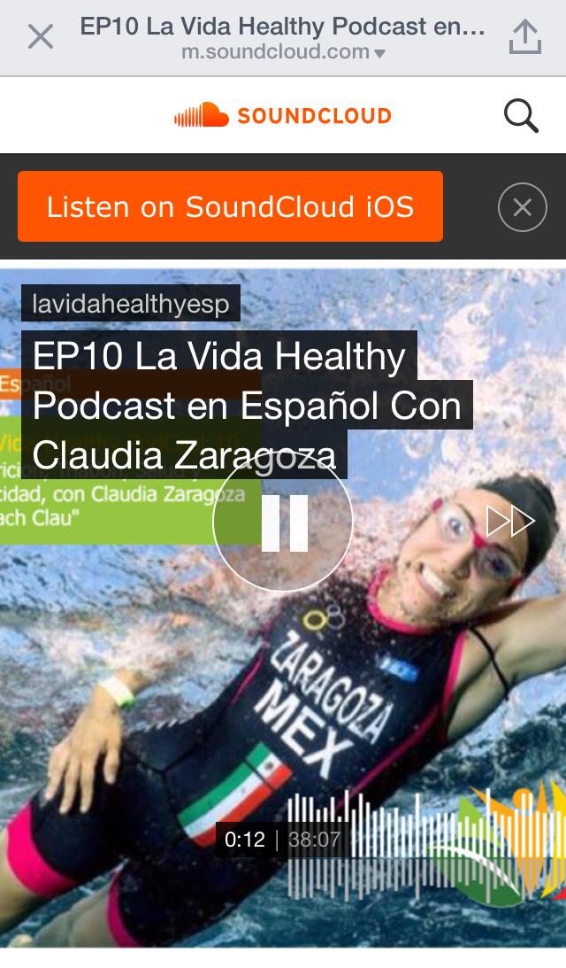 """Entrevistada para el podcast """"La Vida Healthy"""" de Edgar Palacios quien está basado en Miami, Florida. 2015"""