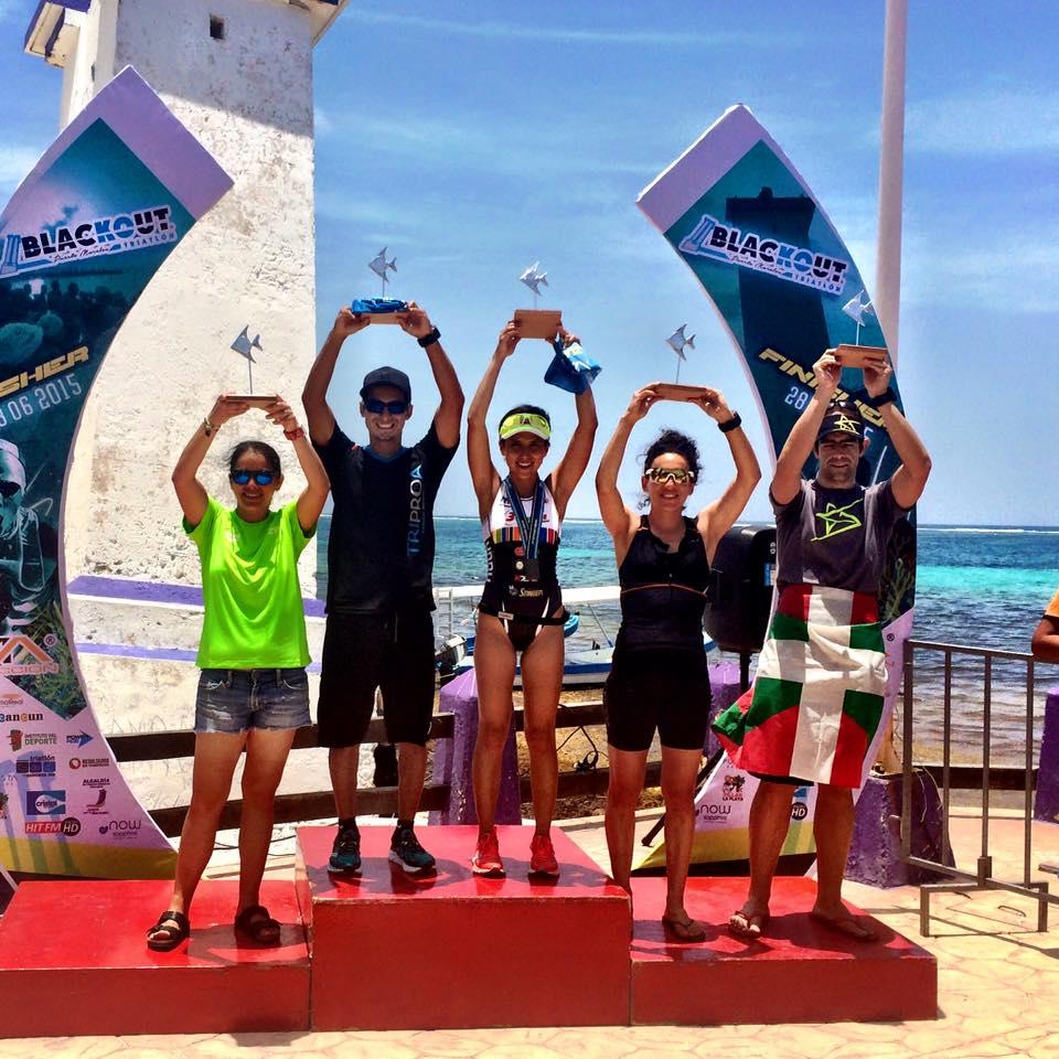 3er lugar Triatlón Blackout en Puerto Morelos. 2015