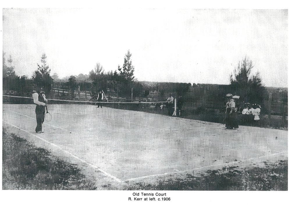 Old Tennis Court C.1906  R Kerr at left