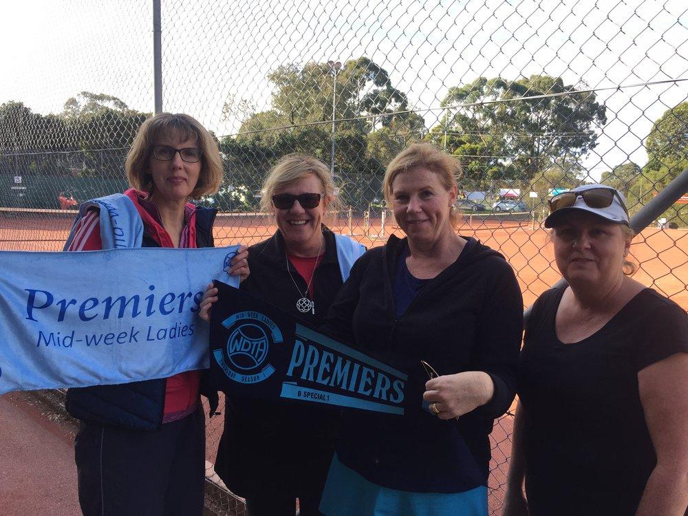WDTA B Special 1 Premiers - Autumn 2017  Catherine Gonsalves, Cathy King, Anne Nunan, Julie Cox (Absent - Leanne Carroll)  Congratulations ladies