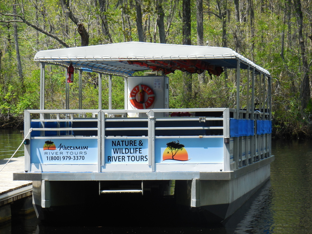 Explorer 1, our 49-passenger pontoon at Waccamaw River Tours, LLC
