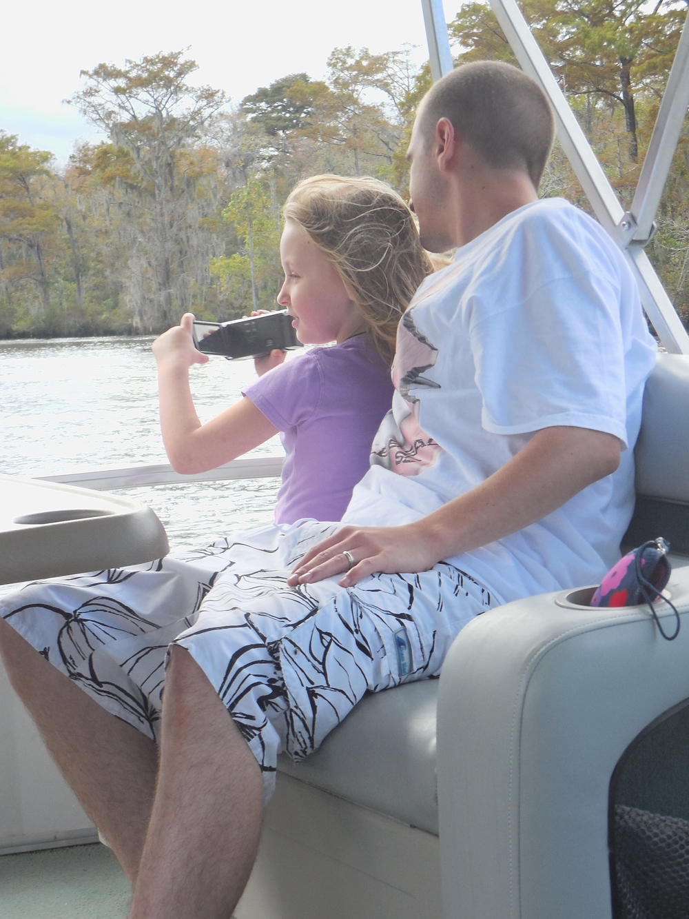 Destiny & Kevin enjoying a Nature & Wildlife Nature Tour at Waccamaw River Tours.