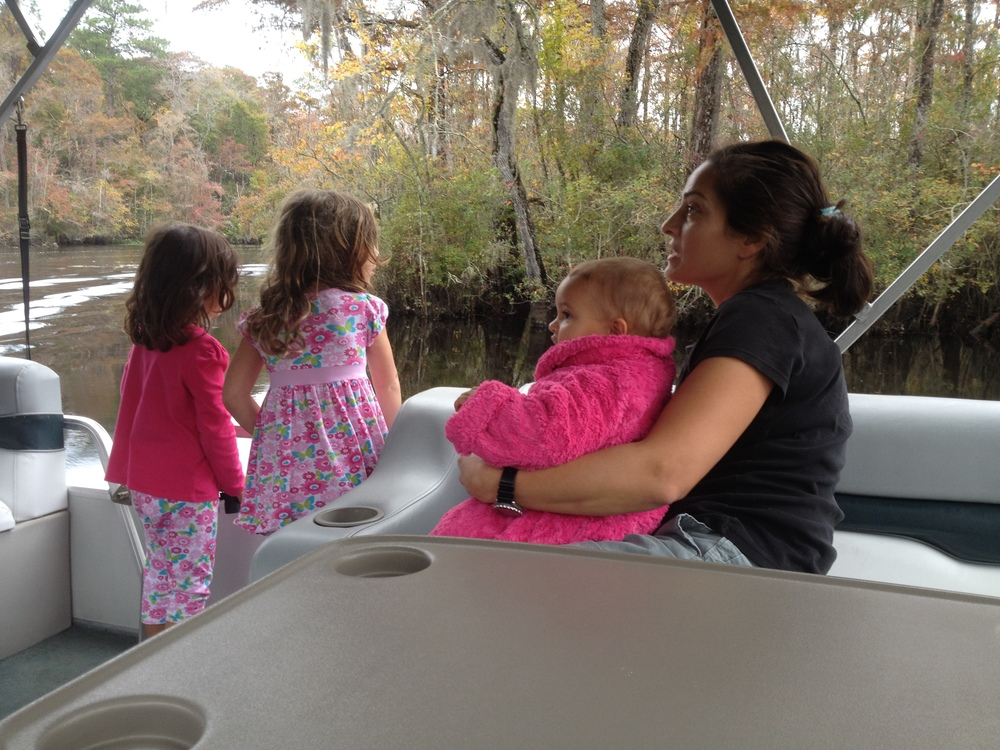 Baldwin Family enjoying a Private Nature & Wildlife River Tour. 10/2014 Photo by Kim Carlson