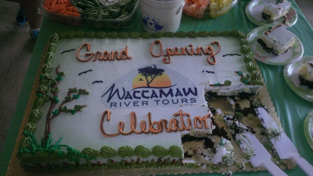 Waccamaw River Tours Grand Opening on May 24, 2014.  The cake was good along with the raspberry lemonade punch!