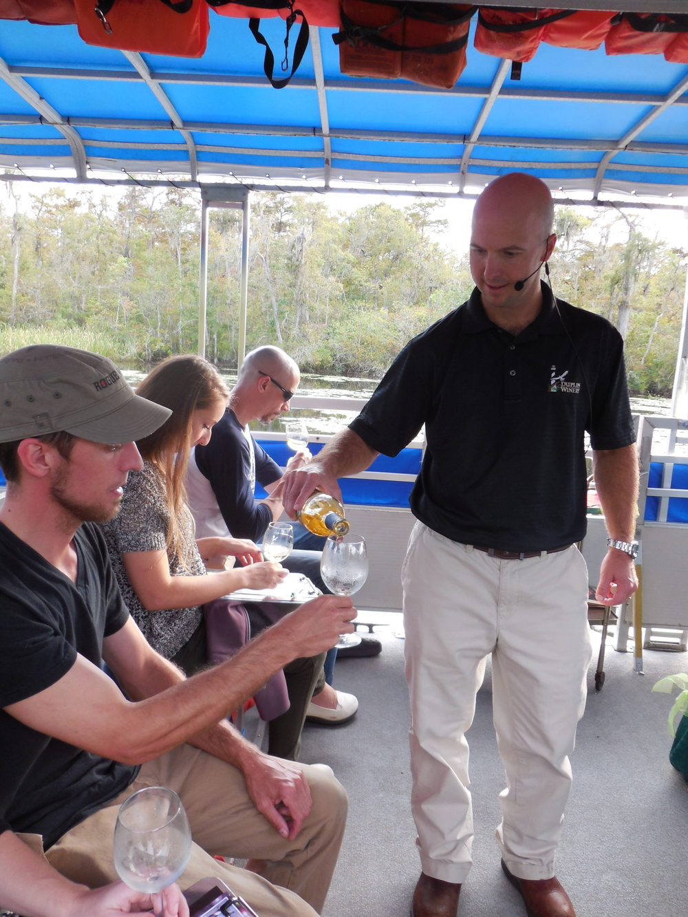 Wine Tasting on the River with Duplin Winery Oct 3, 2014