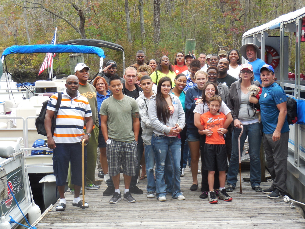 Scents for Soldiers:  Enjoyed a Nature & Wildlife River boat tour at Waccamaw River Tours and a cook-out and fun on the property.  Oct 12, 2014