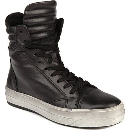 Kurt Geiger Ace leather high-top trainers- $261