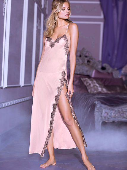 Victoria's Secret Chiffon and Lace Gown- $78