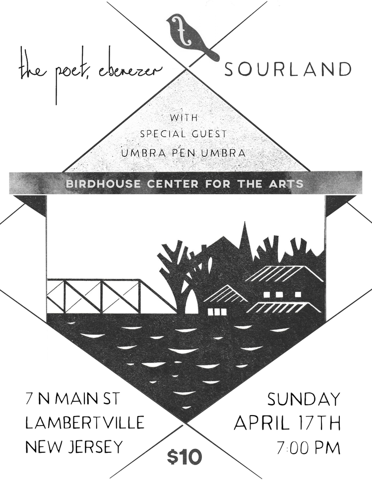 Flyer for local indie rock concert • 2016