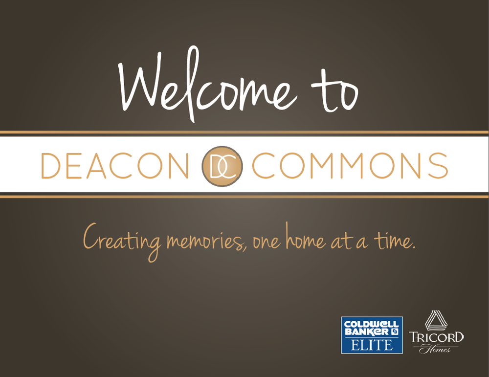 Brochure for Deacon Commons Subdivision in Fredericksburg, VA (Stafford County).  Click photo for full brochure.
