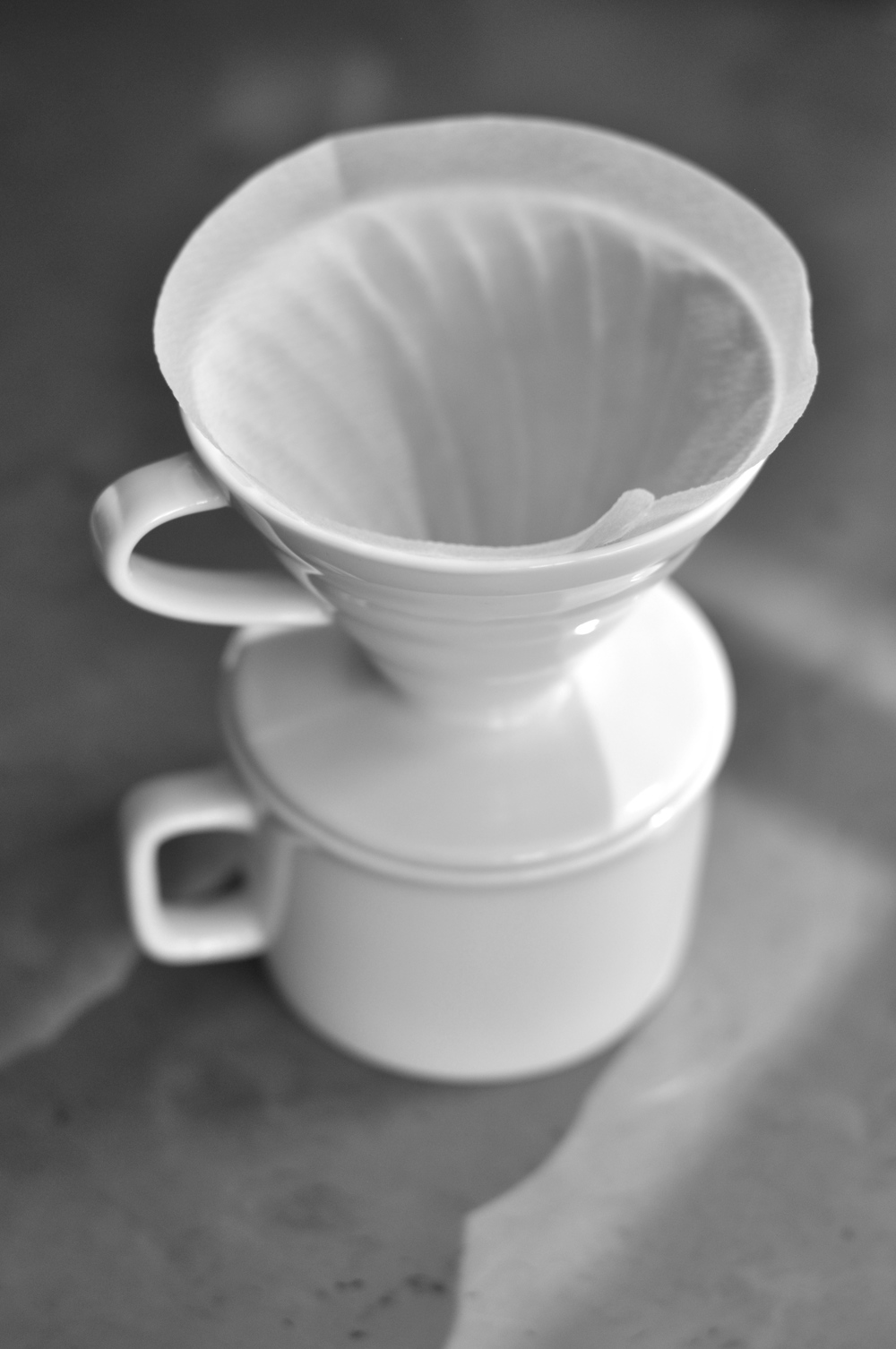 Pour Over Drip Neckar Coffee Hario Paper Filter Vcf 02 100mk Wetted