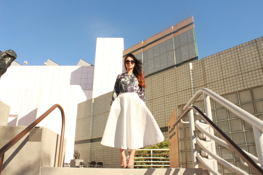 fashion blogger wearing balenciaga in los angeles.