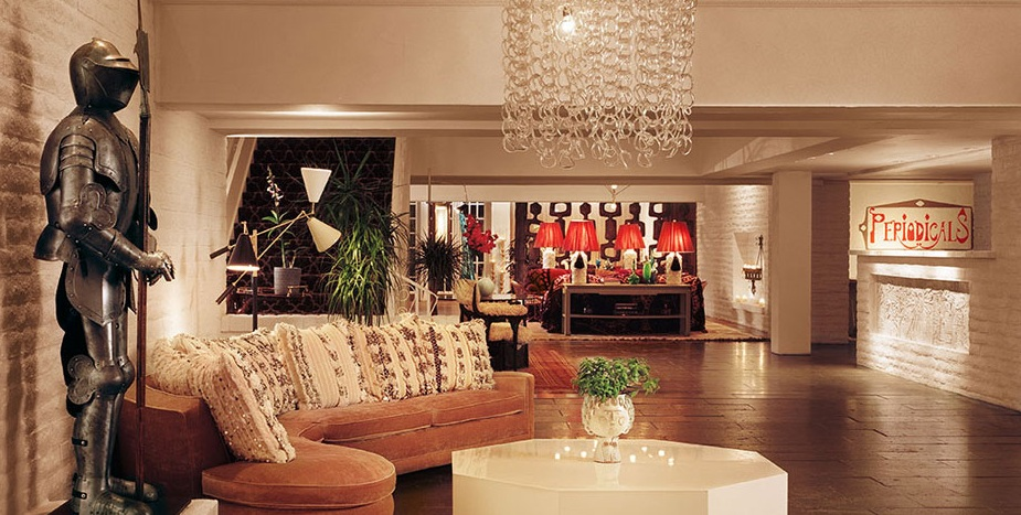 The lobby at the Parker Hotel Palm Springs