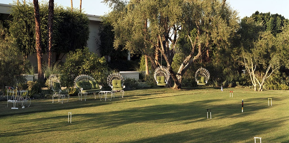 The grounds at the Parker Hotel Palm Springs