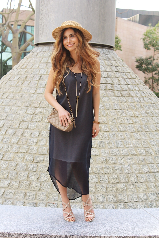 navy dress_gold strappy heels_summer style 2015_fashion blogger_best fashion bloggers_la fashion blogger_savvy javvy