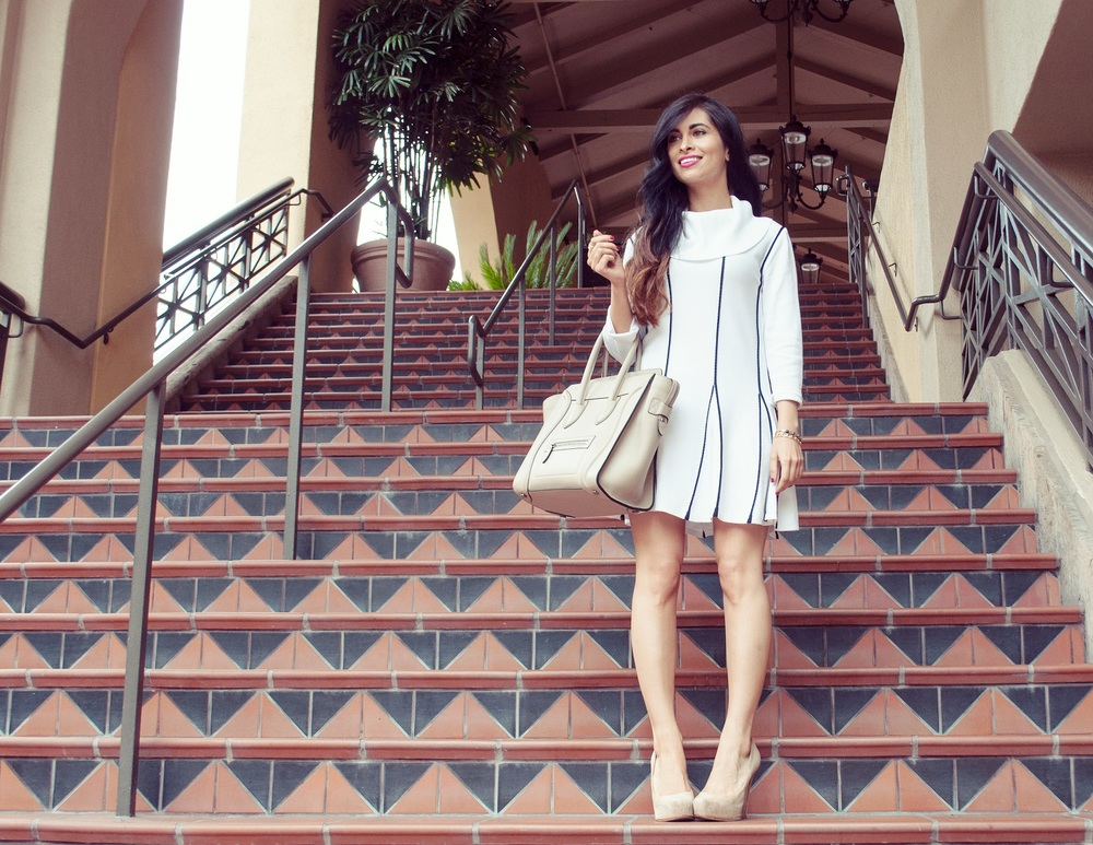 celine_celine bag_luggage tote_nude heels_tennis dress_fashion island_orange county_fashion blogger