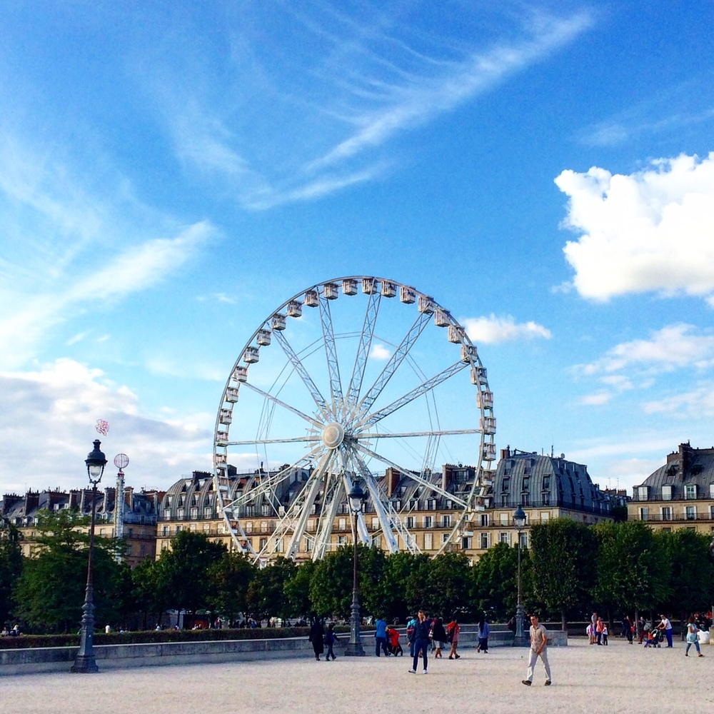 The famous Ferris Wheel in Paris! A must if you want some incredible views of the city.