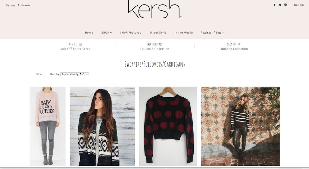 Kersh Clothing Website