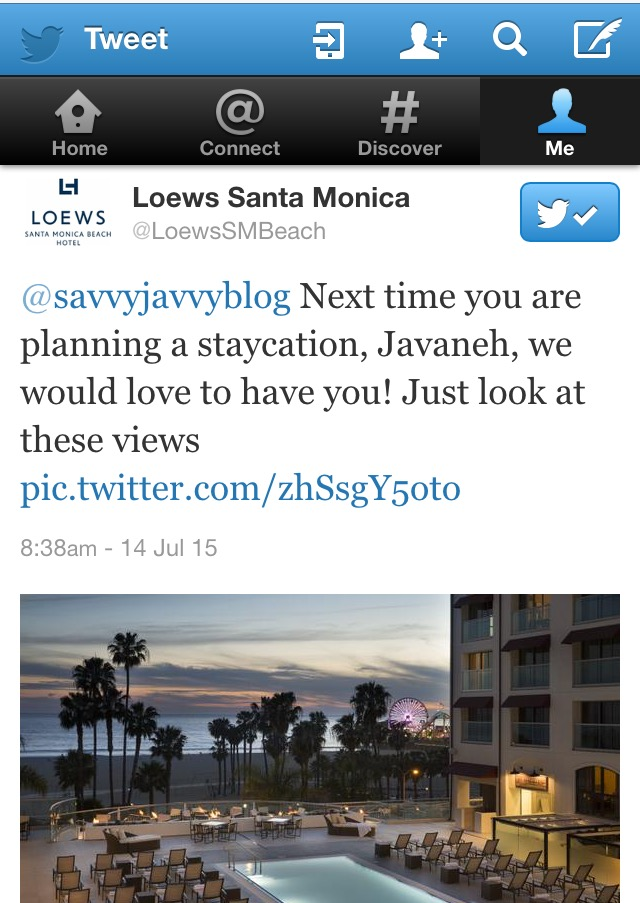 Loews Twitter: Travel