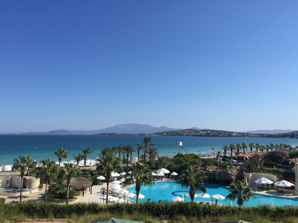 Sheraton Cesme! Our room's view was incredible! Take a look at the Aegean Sea and the gorgeous pool!