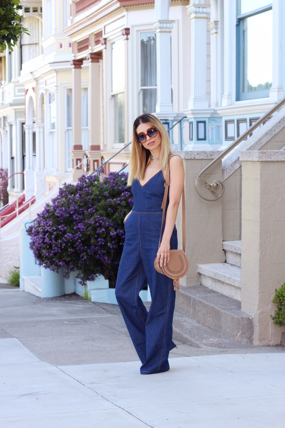 painted ladies_sf_things to see in SF_sightseeing in SF_san francisco travel guide_sf blogger_sf travel_travel to sf_tobi_denim jumpsuit_denim_denim on denim_chloe_chloe girls_chloe marcie bag_savvy javvy