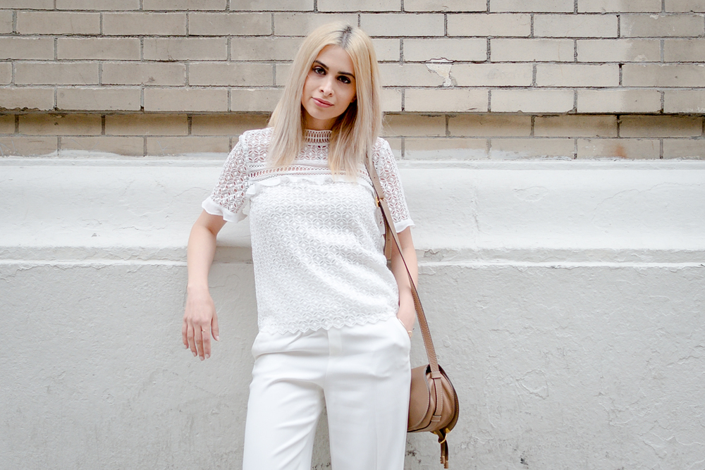 white on white outfit_nyc streetstyle_savvy javvy_chloe marcie bag_zara_icy blonde hair_lob_olsen twins haircut_club monaco camel coat_lace top_business chic_business woman_woman ceo_boss chick_girl boss_nyc blogger_selwyn ramos photographer