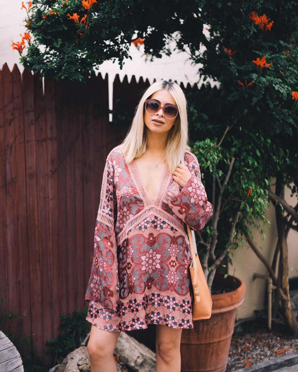 for love and lemons_nordstrom_barcelona trapeze dress_icy blonde hair_kim kardashian blonde hair_bohemian woman_newport beach_oc blogger_best oc blogger_street style_la blogger_savvy javvy_journeywithjavvy