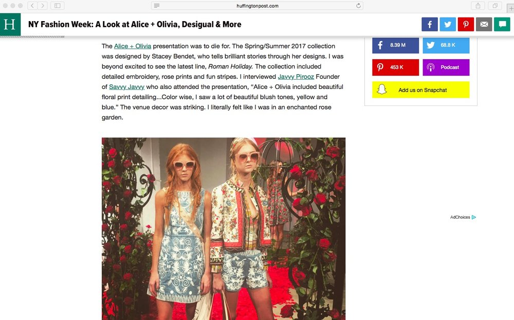 The Huffington Post- NYFW Quote
