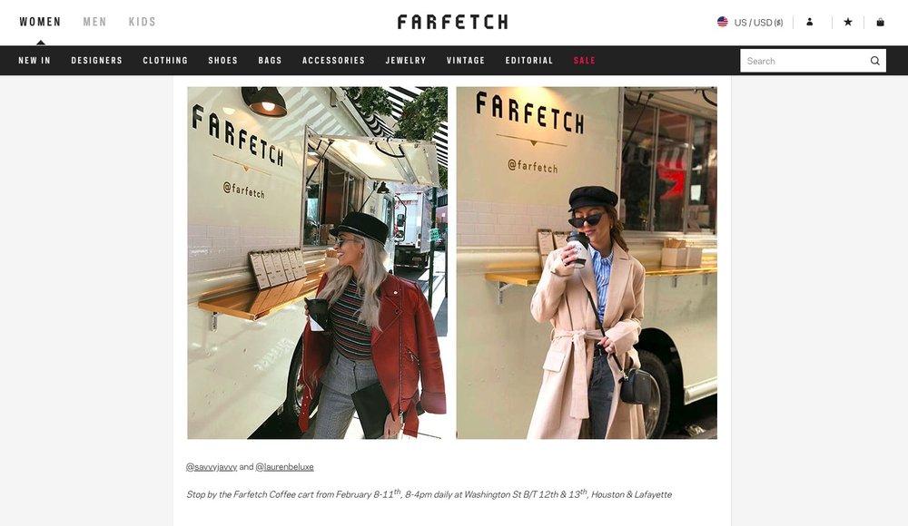 Farfetch - NYFW Recap