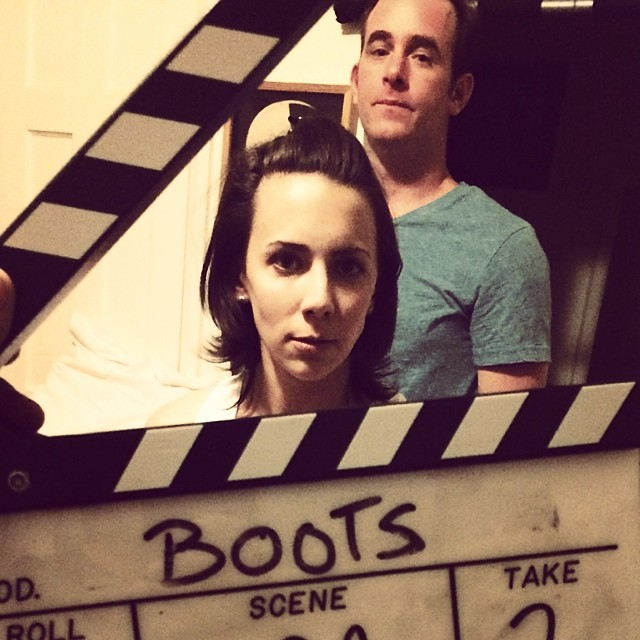 "BOOTS:  Now in post-production, ""Boots"" is the story of Leah, a woman at a crossroads who's mishap in a thrift store leads her on a new path. It's a short film starring, written and co-directed by Kirsten."