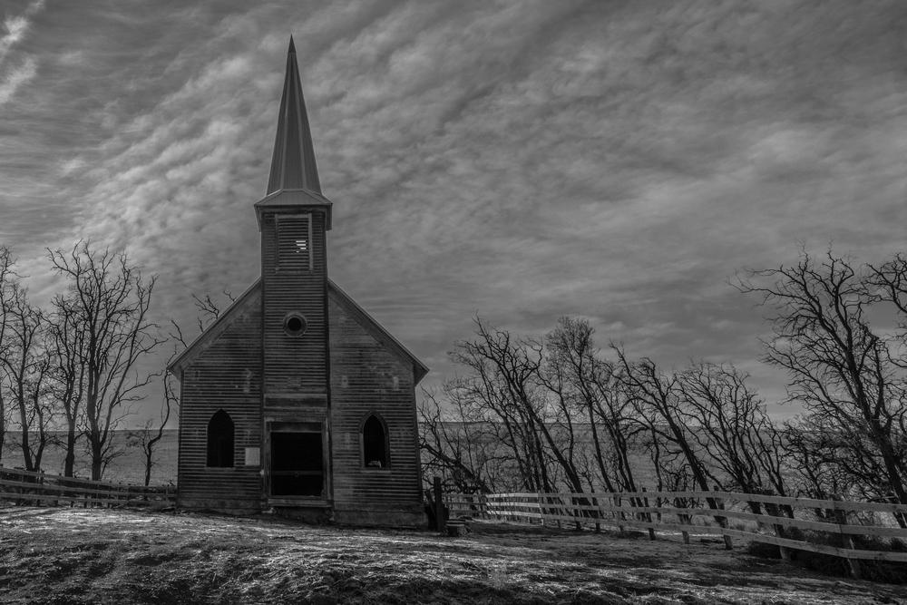 Locust Grove church. Wasco, OR.