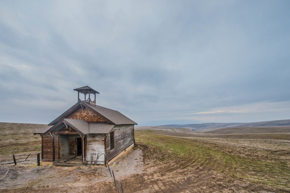 Douglas Hollow School. Wasco County Oregon. I can't wait to go back for crops and better light!