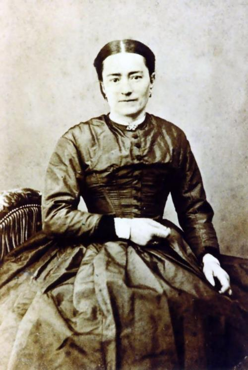 Zelie Martin about 1875.  Photo courtesy of Mme. F. Besnier.