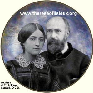 A composite photo of SAINTS Louis and Zelie MARTIN