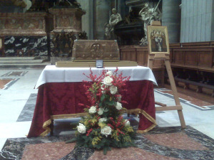 The traveling reliquary of Blessed Louis and Zelie Martin in Rome