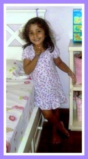 little maria celia frias, now aged five and a half years