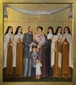 """STS. LOUIS AND ZELIE MARTIN, ST. THERESE OF LISIEUX, AND SIBLINGS"" - ICON By PAOLO ORLANDO"