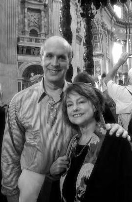 Jon Frankle and Lorraine Hirsch in St. Peter's Basilica, October 17, 2015