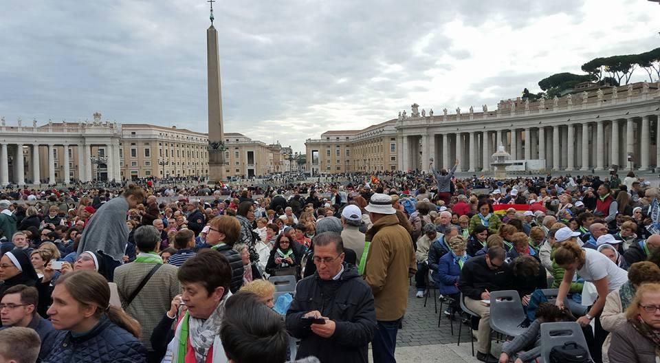 The Square on canonization morning before the Mass began.