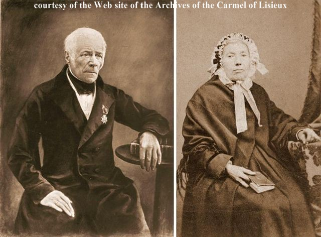 captain pierre-francois martin, st. louis martin's father, and marie-anne-fanie boureau, st. louis martin's mother.  no portraits of them as a  young couple are known to have survived.