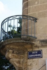 Street sign for the rue Servandoni