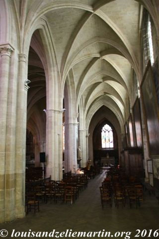 Interior of st. eulalie's church, bordeaux, where louis martin was baptized on october 28, 1823