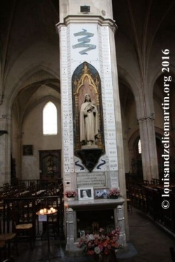 STATUE OF ST. THERESE IN ST. EULALIE'S CHURCH, BORDEAUX, WHERE HER FATHER, ST. LOUIS MARTIN, WAS BAPTIZED.