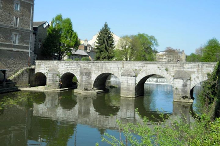 st. leonard's bridge over the sarthe river, alencon.  photo courtesy of the shrine at alencon.