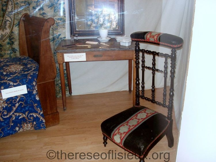 Zelie's dressing table and prie-Dieu.  Photo courtesy of Susan Ehlert.