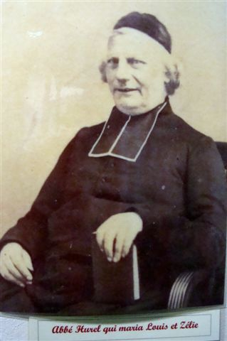 m. frederic hurel,the priest who presided at the marriage of louis and zelie martin.  photo courtesy of peter and liane klostermann, with thanks to the shrine at lisieux.