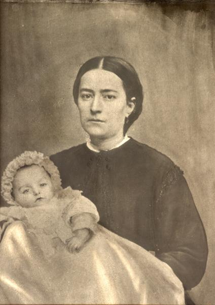 AN UNRETOUCHED PHOTO OF ZELIE MARTIN IN 1868. a photo of marie-joseph-louis, who had died the previous year, was glued onto this photo. PHOTO CREDIT: ARCHIVES OF LISIEUX CARMEL.
