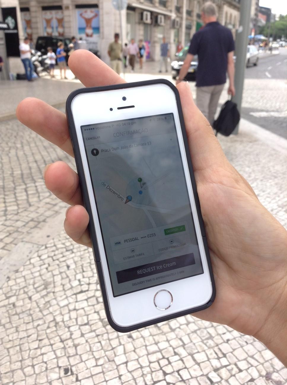 funcionamento da app Uber
